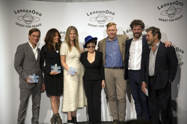 JOHN LENNON IS COMMEMORATED IN THE LENNON ONO GRANT FOR PEACE, PRESENTED TODAY BY YOKO ONO IN REYJKAVIK, ICELAND