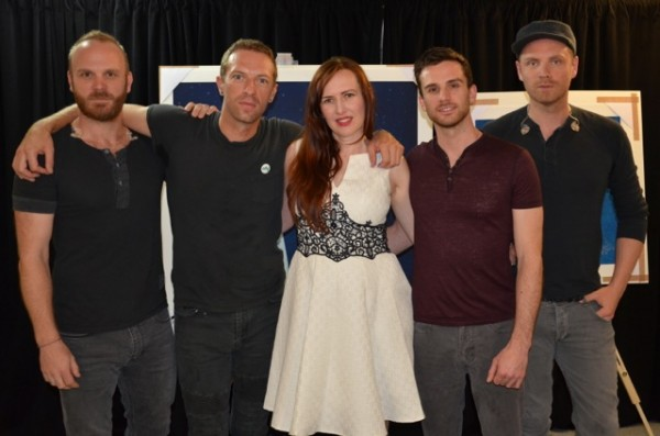 COLDPLAY OPEN AN EXHIBITION OF MILA F�RSTOV��S ARTWORK FOR GHOST STORIES TODAY
