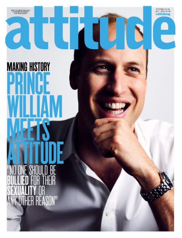 HIS ROYAL HIGHNESS THE DUKE OF CAMBRIDGE GRACES THE COVER OF ATTITUDE MAGAZINE