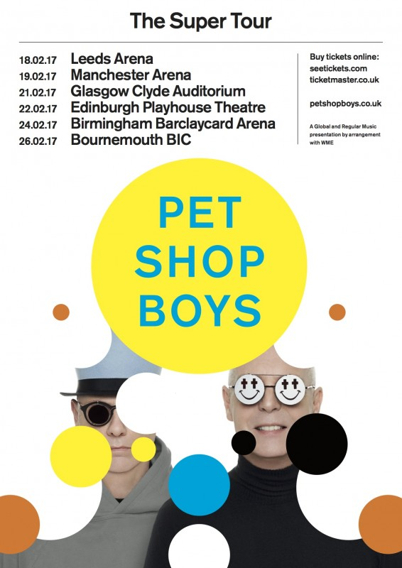 PET SHOP BOYS ANNOUNCE 2017 UK TOUR
