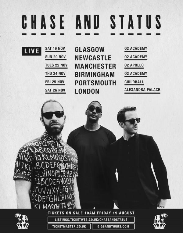 CHASE & STATUS ANNOUNCE 2016 UK TOUR