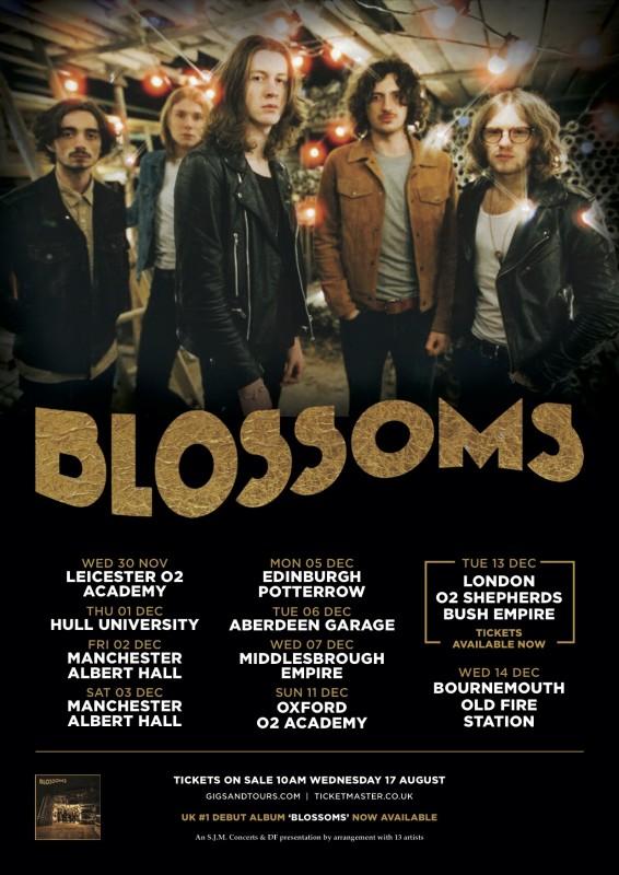 BLOSSOMS ANNOUNCE NOVEMBER / DECEMBER 2016 HEADLINE UK TOUR