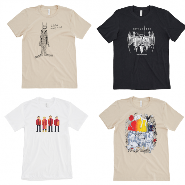 NEW RANGE OF EXCLUSIVE BAND T-SHIRTS LAUNCH TO BENEFIT CANCER SUPPORT CHARITY TREKSTOCK