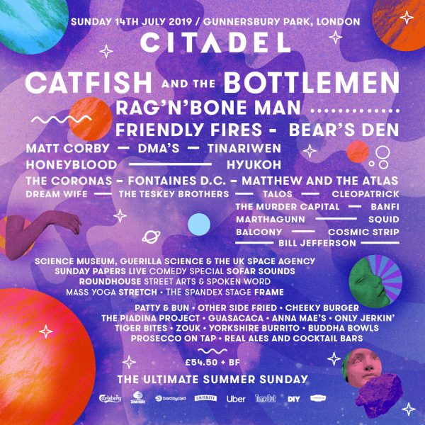 CITADEL FESTIVAL ANNOUNCES FIRST ACTS OF 2019
