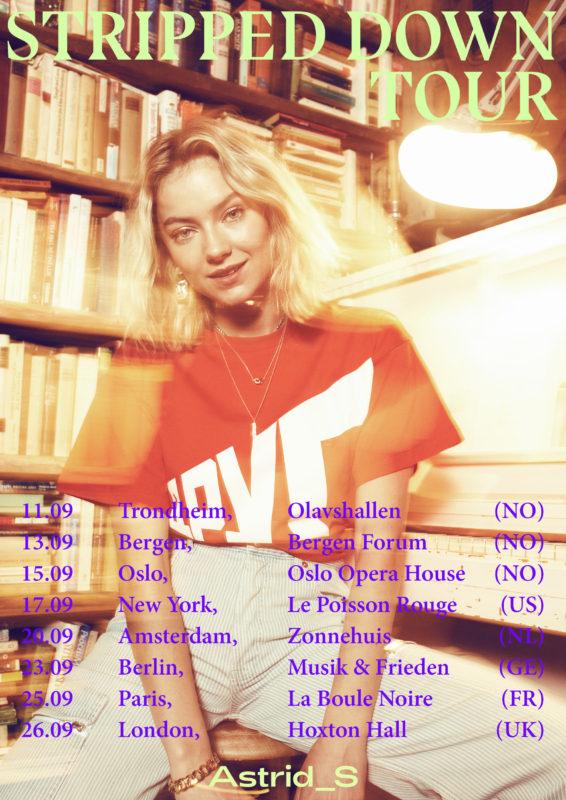 ASTRID S ANNOUNCES HER 'STRIPPED DOWN' TOUR