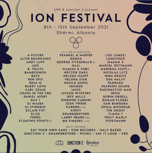 ION ALBANIA CONFIRMS ITS FULL FESTIVAL LINEUP FOR SEPTEMBER 2021 IN DHËRMI