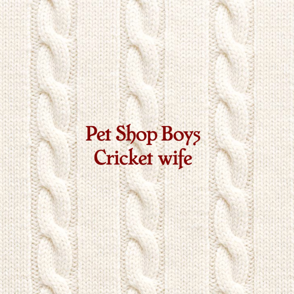 PET SHOP BOYS ANNOUNCE THE RELEASE OF THEIR BRAND NEW TRACK 'CRICKET WIFE' PLUS 'WEST END GIRLS' (LOCKDOWN VERSION) ON CD